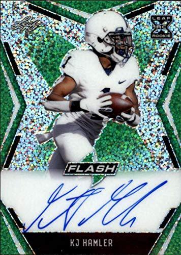2020 Leaf Flash Football Action XRC Autograph Green #BA-KH2 KJ Hamler Auto S20 Penn State Nittany Lions Denver Broncos Draft Pick