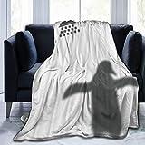 KOSALAER Bedding Manta,Sombra de pingüino de Ducha,Mantas cálidas de Sala de Estar/Dormitorio Ultra Suaves para Todas Las Estaciones