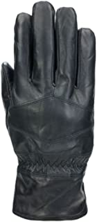 Mens Black Diamond Leather Thinsulate Touchscreen Text & Tech Gloves