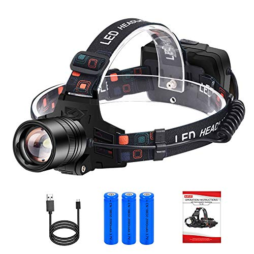 Headlamp Flashlight USB Rechargeable Led Head Lamp High 3000 Lumen