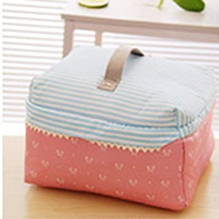 MeterMall Cute Large Capacity Tote Make Up Bag for Travel Cosmetic Storage Butterfly pink