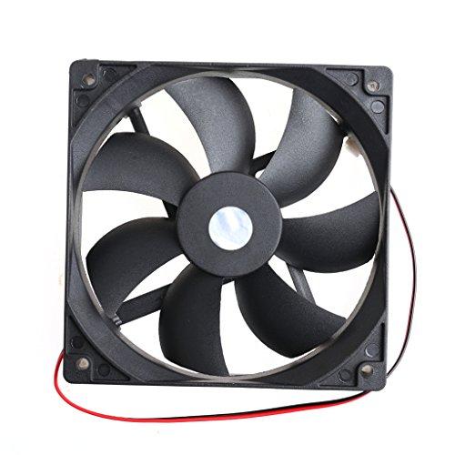 BGH ER-NMBGH 12025 - Ventilador de refrigeración hidráulico de 12 V CC de 2 pines para carcasa de PC, computadora de alta velocidad, 120 mm x 120 mm x 25 mm