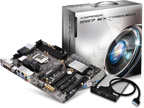 ASRock Extreme6 Mainboard LGA Sockel 1150 (ATX, Intel Z87, 4x DDR3-Speicher, 6x SATA III, 8x USB 3.0)