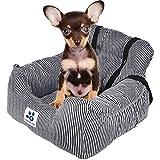 Topone Hundesitz für Autos, tragbar, mit Sicherheitsgurt für kleine und mittelgroße Haustiere