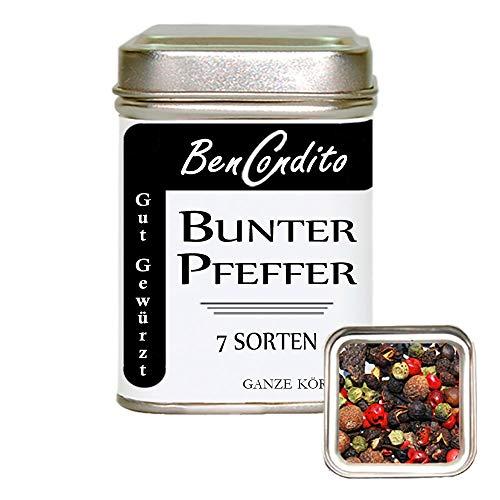 BenCondito I Bunter Pfeffer - Pfeffermischung mit 7 Pfeffersorten ( Königspfeffer ) 70 Gr. Dose