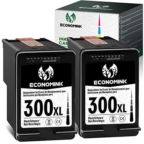EconomInk Cartucho de tinta 300XL negro 300 XL para HP Deskjet F4580 F4224 Envy 120 F4280 F4210 Photosmart C4780 100 F2480 F2420 110 C4680 114 F2400 0 F24 92 F4500 D2660
