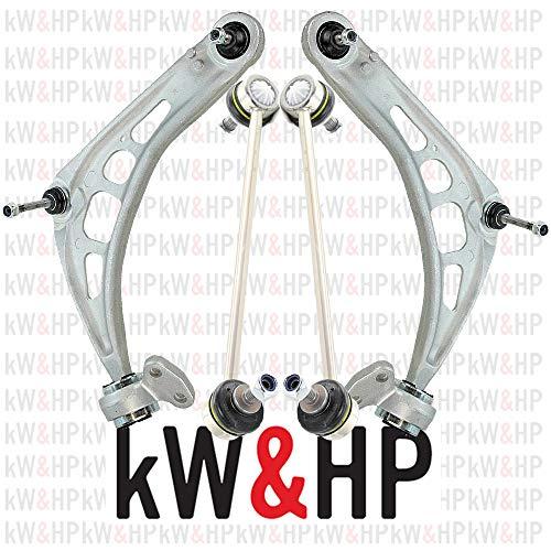 kW&HP COPPIA BRACCI OSCILLANTI AVANTRENO E BIELLETTE BARRA STABILIZZATRICE ANTERIORI DESTRA E SINISTRA SERIE 3 E46 (KW0011)