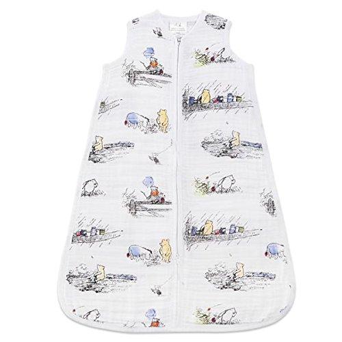 aden + anais - Gigoteuse Légère pour Bébé DISNEY, Turbulette d'Eté en Mousseline 100% Coton, Winnie L'Ourson, Adaptée pour les Bébés, 1.0 TOG, Garçon et Fille de 18-36 Mois, Multicolore