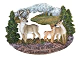 Pine Ridge Deer Family Wall Hanging Plaque Home Decor Inscribed The Love of Family is Life's Greatest Blessing Figurine Collectibles - Wildlife Animals Decoration Gift Ideas