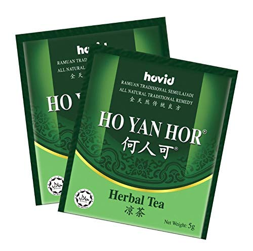 100 Sachets HO YAN HOR Original Herbal Tea (All Natural Traditional Herbs Remedy) Imported from Malaysia- Free Express Delivery