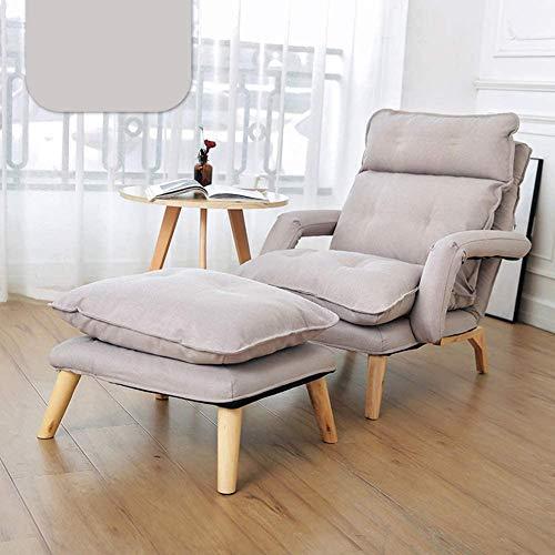 wyingj Sillón de una sola cubierta estilo japonés perezoso sofá pequeño salón sofá sillón con pedales utilizado en espacios compactos dormitorio balcón reclinable varios colores - 2