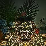 Linterna Solar Exterior,Aokyom® Luces de Linterna Solar Linterna Jardín IP44 Impermeable Lampara Solar de Decoración Linternas Solares de Metal,para Jardin Patio Terraza Césped Arboles Fiesta Navidad