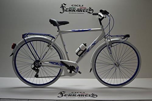 City Bike Trekking Passeggio Stradale 28 Uomo AC. Verde e Bianco Blu 6v