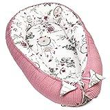 Cuna para bebé recién nacido, de Kokon, hecha a mano, de algodón con certificado Öko-Tex, 90 x 50 cm, color rosa oscuro