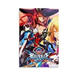 Gaming Blazblue Central Fiction Flyer AnimeDigitalwallartMangacoversCoolWallDecorArtPrintPoster Poster Decorative Painting Canvas Wall Art Living Room Posters Bedroom Painting 08x12inch(20x