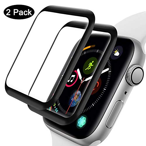 2-Pack for Apple Watch Series 5 40mm/Series 5 40mm Tempered Glass Case, HD Tempered Glass Screen Protector for iWatch Series 5/4