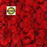 Rose Petals 3000 Pieces Silk Artificial Flower Petals for Wedding Confetti Flower Girl Bridal Shower Hotel Home Party Valentine Day Flower Decoration (red)