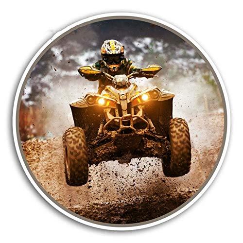 GDYL Etiquetas Engomadas del Coche Hot Off Road Quad Pegatinas De Vinilo ATV Dirt Bike Coche PegatinaCamper Ventana Parachoques Motor Calcomanía Impermeable 13 * 13Cm