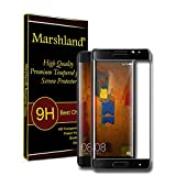MARSHLAND Tempered Glass 3D Curve Crystal Clear 99% Transparency 9H Hardness Tempered Glass Screen Protector Compatible for Huawei Mate 9 Pro (Black)