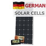 Photonic Universe - Kit de carga solar de batería dual (180 W, 12 V, con controlador de carga de 20 A y cable de 5 m)