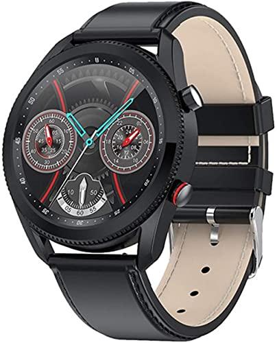 Smart Watch L61 Business Casual Uomo s Orologio Quadrante Ruotabile Per Interruttore Funzione Interfaccia Rotonda Uomini s Orologio per Android Ios-A