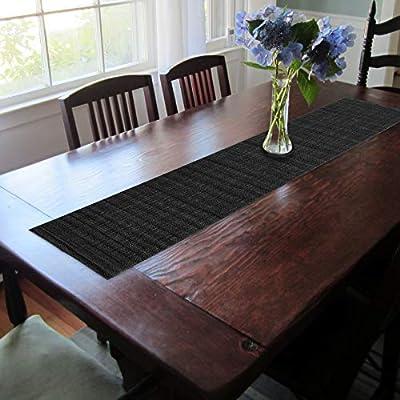 CAIT CHAPMAN HOME COLLECTION Texture Design Woven PVC Rectangular Heat Insulation Texteline Table Runner