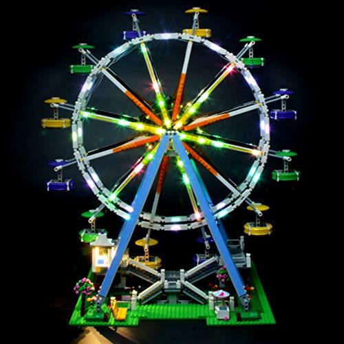 Licht-Set Für (Creator Riesenrad) Modell - LED Licht-Set Kompatibel Mit Lego 10247, Modell Nicht Enthalten