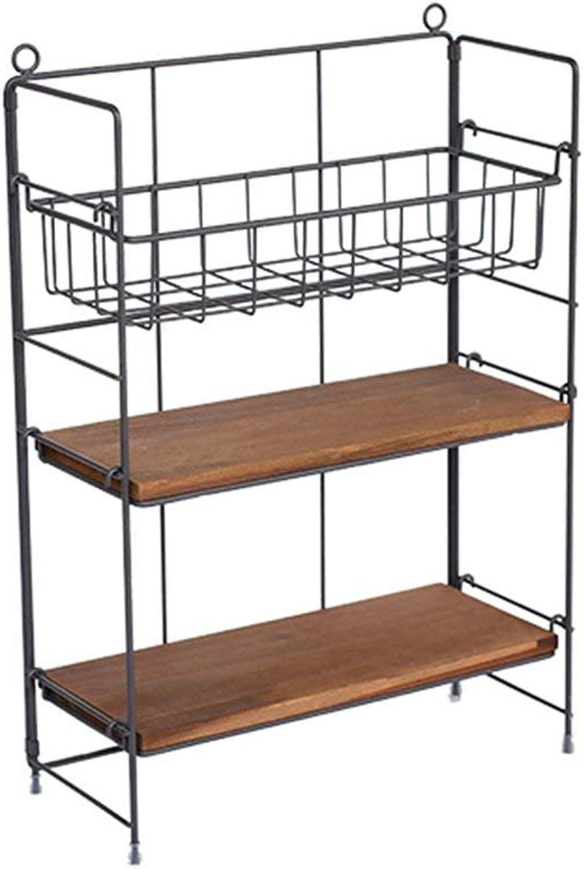 BXJ Vintage Old Wrought Iron Racks, multiier Adjustable Racks, Home Finishing Racks. Shelf