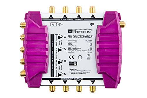 Opticum OMS 9/8p Line Multischalter (mit vergoldeten Kontakten) Gold