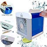 Air Cooler Personali Piccolo Climatizzatore Portatile Ventilatore USB Dello Scrittorio Raffreddatore D'aria Evaporativo Mini Climatizzatore Personale Umidificatore d'aria Purificatore d'aria