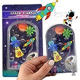 LG-Imports Geduldsspiel Mini Flipper Space 6 Stück Weltraum Flipperspiel Kinder Mitgebsel Pinball