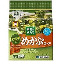 東洋水産 マルちゃん 素材のチカラ めかぶスープ 5食入×12パック