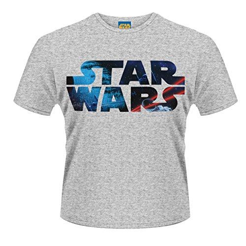 Plastic Head Star Wars Space Logo, Camiseta para Hombre, gris (Grey), XX-Large
