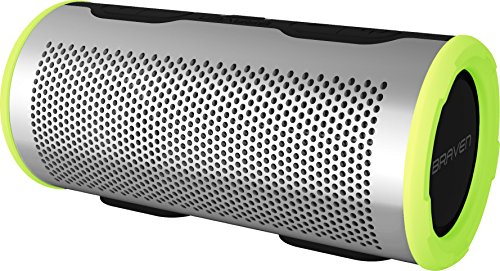 Braven stryde 360 degree sound [2500 mah] waterproof bluetooth speaker - silver / green