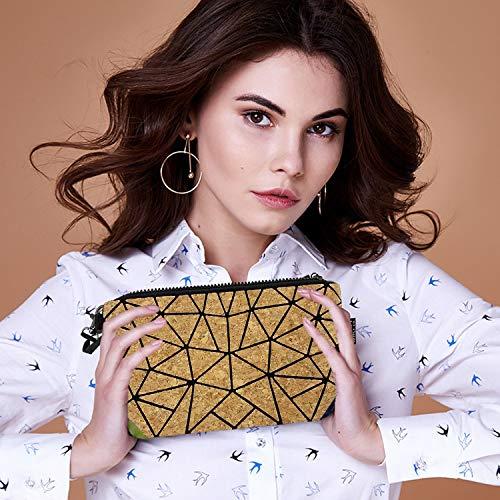 Cork Geometric Cosmetic Bag