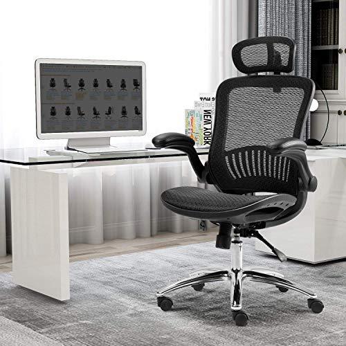 Gaming Chair - Ergonomic Mesh Adjustable Home Desk Office Chair Modern Design Reclining Chair PC Racing Computer Desk Office Swivel Chair