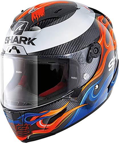 Shark Casco de moto RACE-R PRO CARBON LORENZO 2019 DBR, Negro/Rojo/Azul, XL