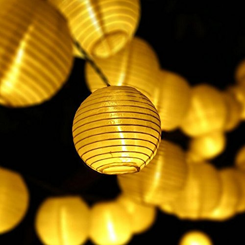 AceList Gzero 13 ft 20 LED Nylon White Indoor Outdoor Mini String Lights,for Weddings Parties,Christmas,Garden, Halloween, Bedroom Party Decoration (Plain White)