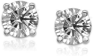 IGI Certified 14k Gold Lab Grown Diamond Stud Earrings (1/2 to 1 cttw F-H Color VS1-VS2 Clarity)