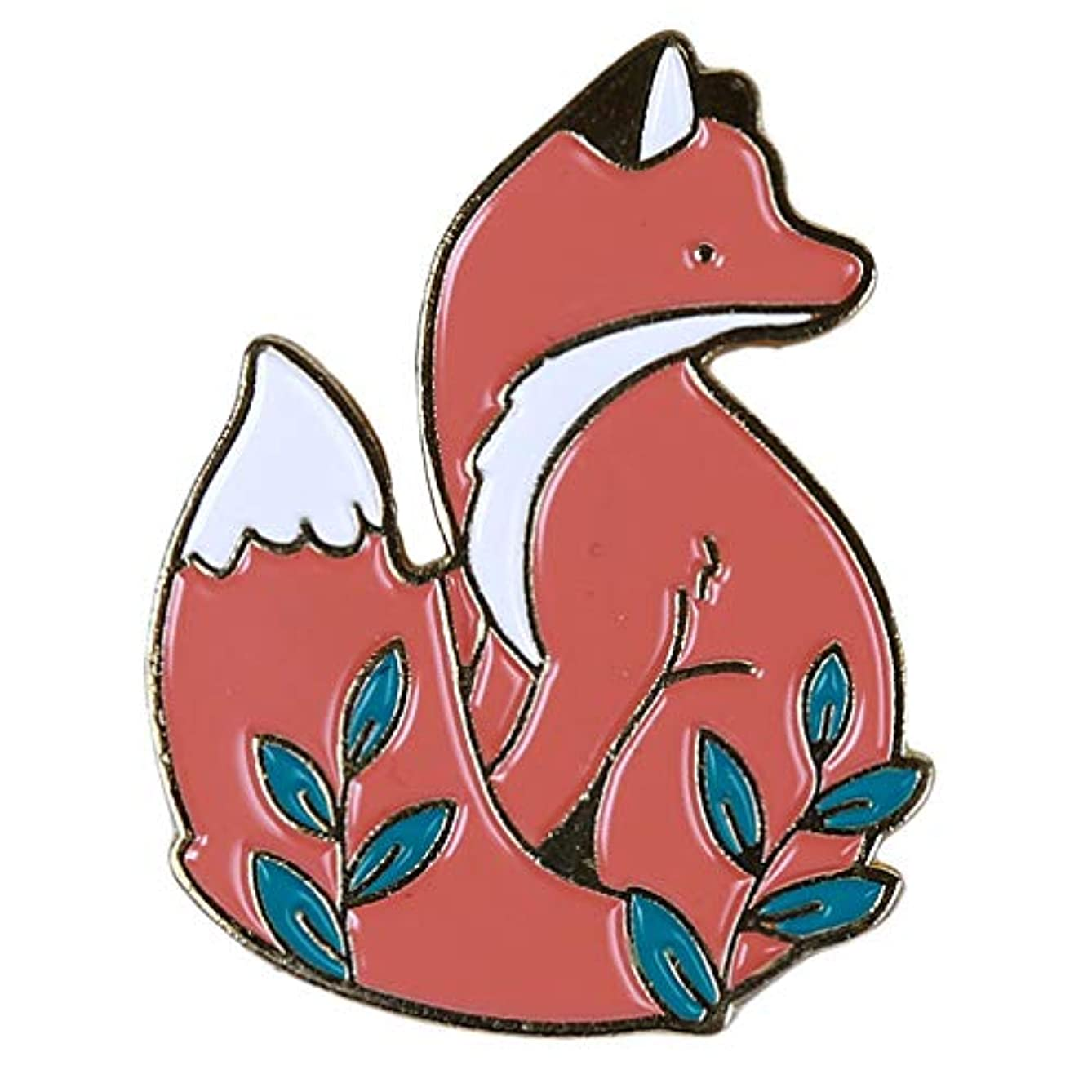 Guoshang Brooch Pins Cute Animal Fox Enamel Pin Brooch Pin Christmas Cute Animal Fox Brooch Pin Lapel Shirt Clothing Badges Brooches Jewelry Brooches for Women Men Accessory
