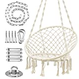 WBHome Hammock Chair Macrame Swing with...