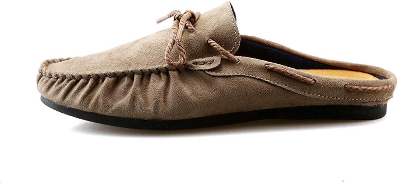 ZHRUI Mens Slip on Boat shoes Driving Classic Soft Sole Non Slip Deck shoes (color   Brown, Size   UK 7)