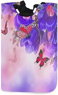 N\A Panier à Linge, Fleur Tropicale Papillon paniers de Rangement de Linge vêtements Pliables Sac Organisateur de Jouets p...