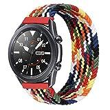iBazal 22mm Correa Galaxy Watch 46mm Pulsera Nylon Banda Trenzada Lazo Individual Repuesto para Samsung Galaxy Watch 3 45mm/Gear S3 Frontier Classic, Huawei Watch GT/GT 2 46mm - M Colorido