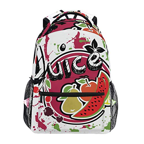 SIONOLY Rucksack,Saft Aufkleber,Neu Lässige Daypack School Bookbag Verstellbare Umhängetaschen Reiserucksack