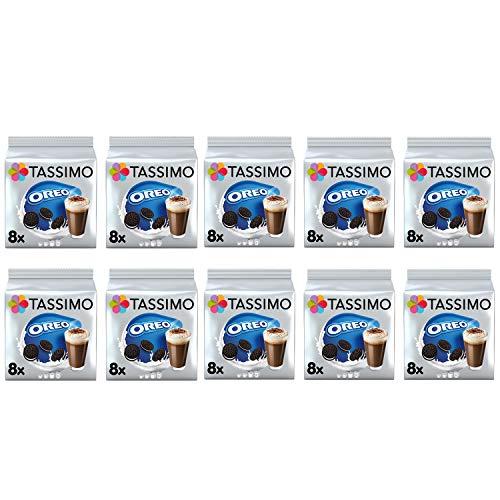 Tassimo Oreo Cápsulas de chocolate caliente - 10 paquetes (80 bebidas)