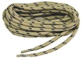 2 pair pack round Tan w/Black proTOUGH Heavy Duty 6mm thick 3/16 Kevlar Reinforced boot laces...
