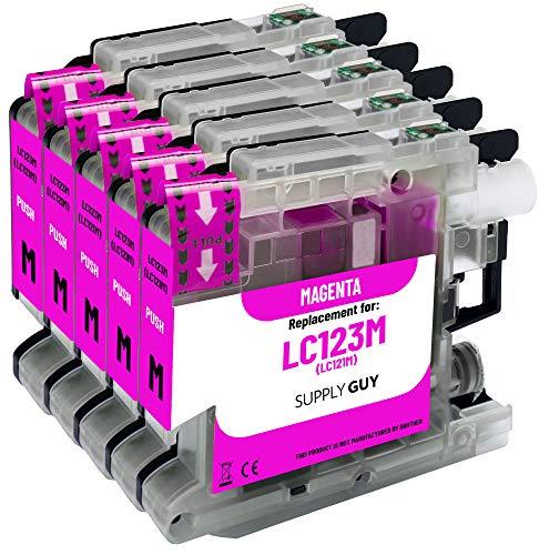 5 Cartuchos de Tinta Compatible con Brother LC-123 (Magenta)