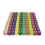 Kaimeilai Juego de 100 dados de colores, 16 mm, bordes redondeados, acrílico, juego de dados de mesa, juego de dados para juegos y enseñanza mathe (10 colores)