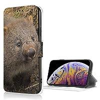 クレイドルマウンテンウォンバット mouse おしゃれ 可愛い iPhone X/XS ケース 財布型 高級PUレザー 保護ケース 多機能 耐摩擦 滑り防止カード収納 マグネット式 スタンド機能 スマートフォンケース